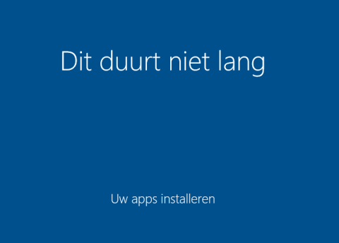 Windows 10 aftellen is begonnen