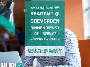 Ben jij Ready4IT? Vacature commerciële ICT'er – supportmedewerker